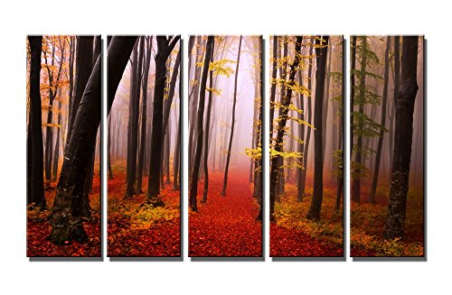 Wieco Art Extra Large Canvas Prints Wall Art The Misty Autum
