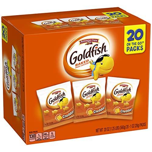 Pepperidge Farm Goldfish, Cheddar, 1 Ounce, 20 Count (Crackers Christmas 2)