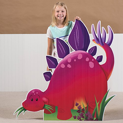 3 ft. 9 in. Dino Tales Dinosaur Stegosaurus Standee Standup Photo Booth Prop Background Backdrop Party Decoration Decor Scene Setter Cardboard Cutout