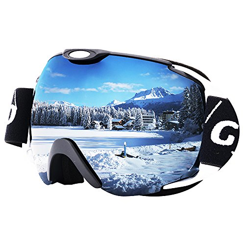 GIORO Ski Goggles Winter Snow Sports Snowboard Goggles Dual Layer Lens Anti-fog UV Protection OTG Over Glasses Helmet Compatible for Men Women Youth Girl Boy Kids Outdoors Snowmobile Skiing Skating