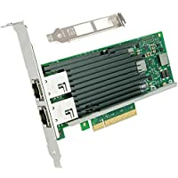 Ecowsera 10GbE Converged Network Adapter(CNA), Copper Dual RJ45 Port(mount to Intel X540-T2 chipset)