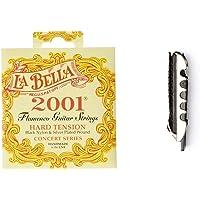 La Bella B2001Fh Juego Cuerda Flamenco + Jim Dunlop 14F Flat Professional Capo