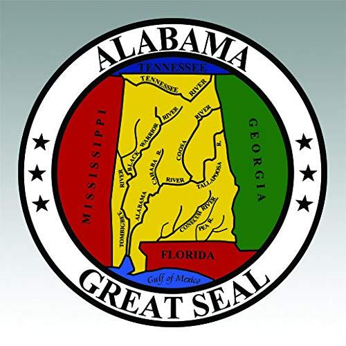 RDW Alabama State Seal Sticker Premium Decal Die Cut State Yellowhammer Heart Dixie AL