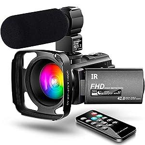 【New Upgrade】 Ultra HD Video Camera Camcorder 1080P 42M Vlogging Camera YouTube Digital Recorder Camera IR Night Vision…