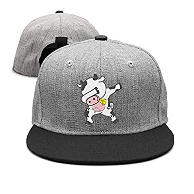 Unisex Wool Blend Heat Snapback Dab Animal Dabbing Cow Men Snapback