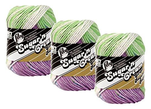 Handicrafter Cotton Stripes (Sugar'N Cream Yarn - Stripes-Violet)
