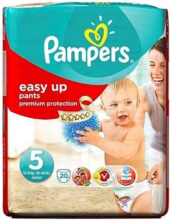 Pampers Easy Ups talla 5 Carry Pack 20 Pañales: Amazon.es: Salud y cuidado personal