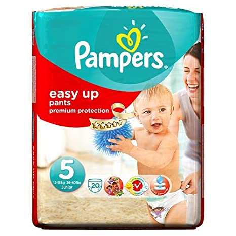 Pampers Easy Ups talla 5 Carry Pack 20 Pañales