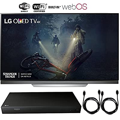 "LG OLED65E7P - 65"" E7 Picture on Glass OLED 4K HDR Smart TV (2017 Model) + 4K Ultra-HD Blu-Ray Player w/ 3D Capability + 2x 6ft High Speed HDMI Cable"