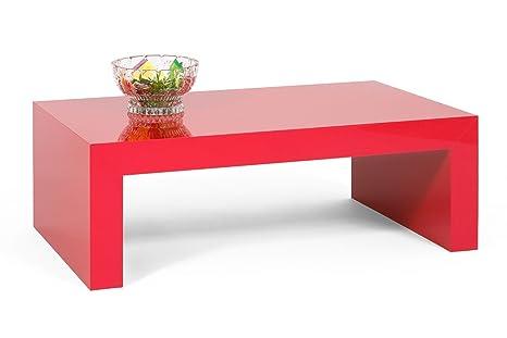 Tavolino Salotto Rosso.Tavolino Basso Da Salotto Rosso Lucido Mod First H30cm