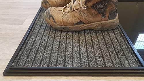 51zlK9D30uL Alfombra - Felpudo Desinfectante, Perfecto para desinfectar el calzado a la entrada de tu Hogar, Negocio, Trabajo ... Medidas: 60x80 cm Consta de 2 divisiones, una para el desinfectado a través de un líquido desinfectante y otra para el secado del calzado