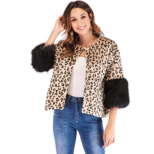 HYIRI ✈ Elegant Winter Casual Jacket Coat,Women Leopard for sale  Delivered anywhere in USA