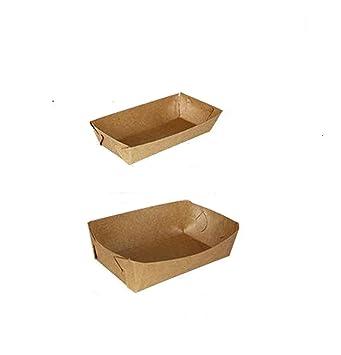 10 pcs DIY papel Kraft papel desechable bandeja de alimentos peces chips Caliente Perros de maíz