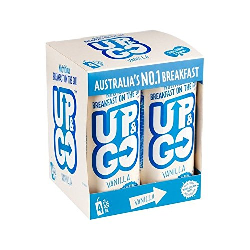 Up&Go Vanilla Breakfast Drink with Oats 4 x 250ml - Pack of 6 by GOUP