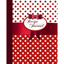 Blank Recipe Book: Recipe Journal ( Gifts for Foodies / Cooks / Chefs / Cooking ) [ Softback * Large Notebook * 100 Spacious Record Pages * Polka dots ]