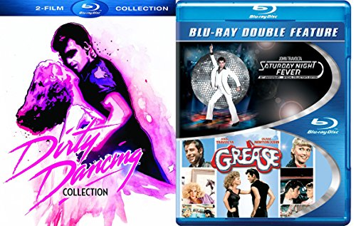 Grease + Saturday Night Fever John Travolta Musical & Dirty Dancing + Havana Nights Collection 4 movie Set Special Edition Blu Ray