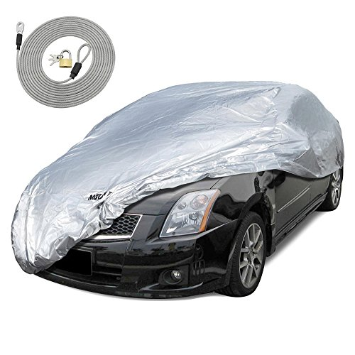 Motor Trend All Season WeatherWear 1-Poly Layer Snow Proof, Water Resistant Car Cover Size S - Fits up to 157""