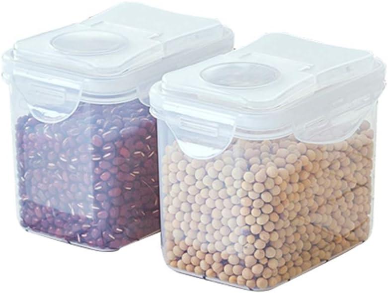 YTF-La Caja de Almacenamiento de plástico, Lata sellada para Alimentos de la Cocina, Cambia la Caja de Almacenamiento Rectangular Transparente 2 Juegos: Amazon.es: Hogar