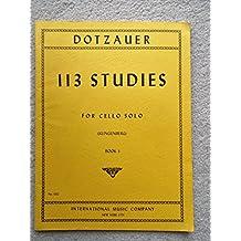 Dotzauer, J. Friedrich - 113 Studies for Solo Cello, Volume 1 (Nos. 1-34) - by Johannes Klingenberg