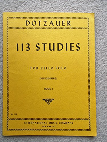 Dotzauer, J. Friedrich - 113 Studies for Solo Cello, Volume 1 (Nos. 1-34) - by Johannes Klingenberg
