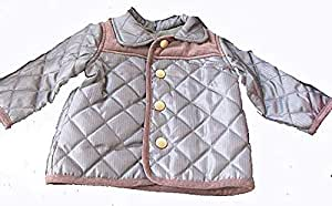 Grey Quilted Boys Jacket