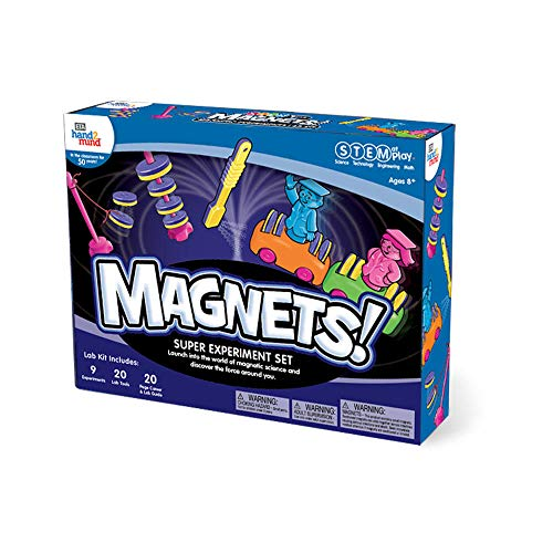 - MAGNETS! Super Science Kit For Kids (Ages 8+) - Build 9 STEM Career Experiments & Activities | Make Magnets Float, Move A Train, Build A Compass, & More! | Educational Toy | STEM Authenticated