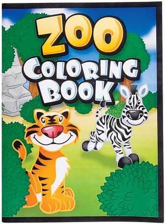 RINCO 12 Page Zoo Animal Coloring Books (package of 12 books)