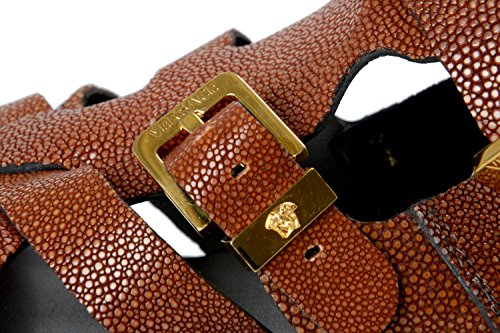 Versace Mens Stingray Läder Remsandaler Skor Oss 9 Den 42;
