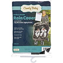 Comfy Baby Double Jogger Rain Shield - black, one size