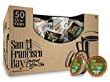 San Francisco Bay- Office OneCups- Rainforest Blend 50 Count- SINGLE WRAP- Single Serve Coffee Compatible with Keurig K-cup Brewers Single Serve Coffee Pods, Compatible with Most Single Serve Brewers