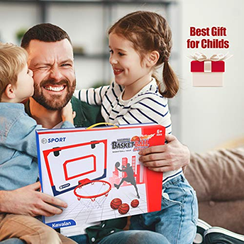 Kavalan Mini Basketball Hoop Set for Door & Wall, 16 X 12 inch Basketball Games for Home and Office , Durable Adjustable Indoor Mini Basketball Hoop with 3 Balls, Best Toys Gifts for Kids Boys Teens
