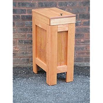 Good Wood Wooden Trash Bin Kitchen Garbage Can 13 Gallon , Recycle Bin, Dog Food  Storage