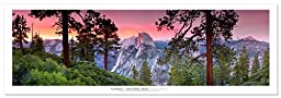 Award Winning Landscape Panoramic Art Print Poster: Yosemite National Park (Sunset)