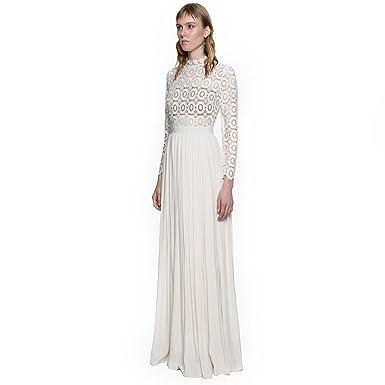 Women's White Chiffon Dress