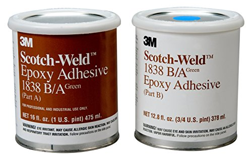 3M Scotch-Weld 20152 Epoxy Adhesive 1838 Part B/A, Green, 1 quart Kit by 3M Scotch-Weld (Image #1)