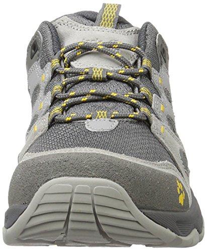 Jack Wolfskin Mtn Attack 5 Low M, Scarpe da Arrampicata Uomo Grigio (Burly Yellow Xt)