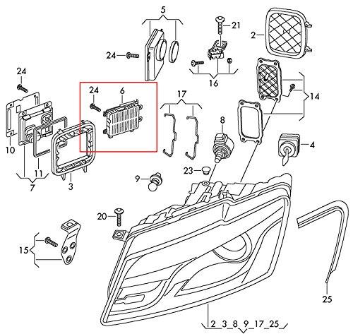 Amazon Com Oem For Audi Q5 Hid Xenon Ballast 8r0907472b 10055 17078