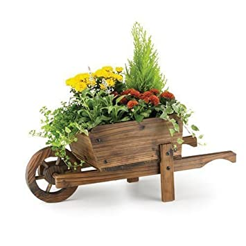 Rustic Garden Supplies Ornamental Wheelbarrow Planter Bar5 B Amazon