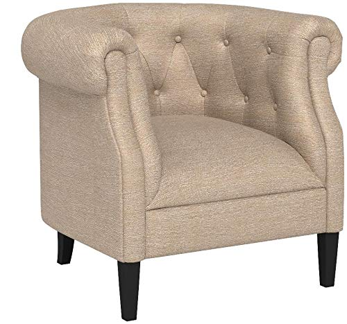 Ravenna Home Westcott Curved Tufted Rolled Arm Accent Chair, 34