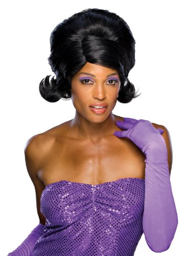 Rubie's Costume Dream Glam Diva Wig, Black, One Size - 60s Diva Costumes