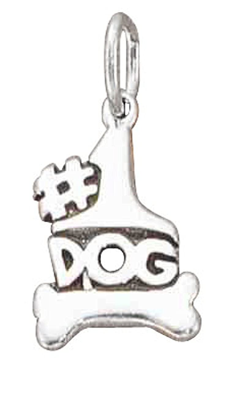 Sterling Silver Girls .8mm Box Chain Dog Pendant Necklace Message #1 Dog Bone