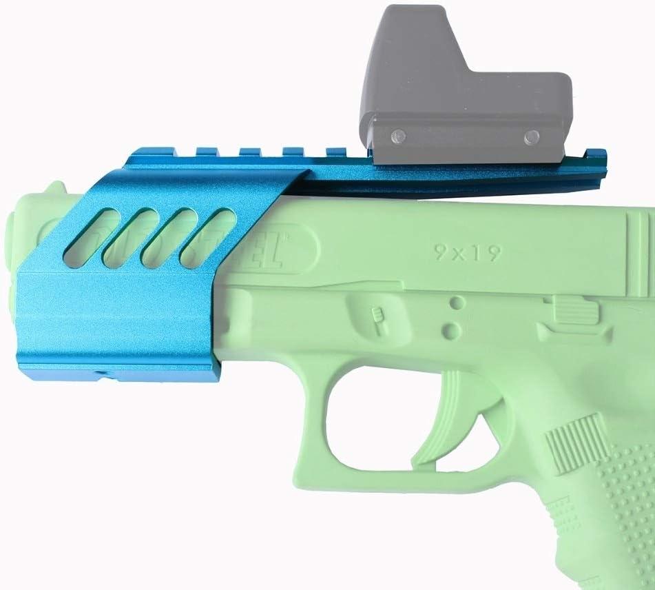 FMN-Caza, Pistola táctica Universal Alcance Vista Picatinny Rail Laser Light Polymer Base Mount for Glock G17 / G18 / G19 Tipo Airsoft GBB