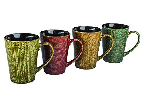 BIA Cordon Bleu 17-Ounce Nature Mug, Set of 4, Assorted Colors