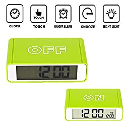 Digital Alarm Clock Flip On/Off (Green)