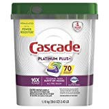 Cascade Platinum Plus Dishwasher Pods, Actionpacs Dishwasher Detergent, Lemon Scent, 70 Count: more info