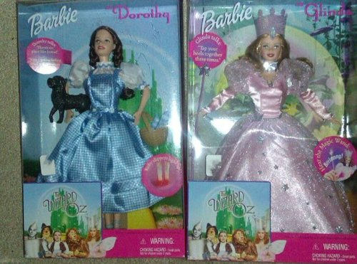 Barbie Wizard of Oz Doll Set -Dorothy, Glinda, Tin Man, Scarecrow, Cowardly (Badge Of Courage Wizard Of Oz)