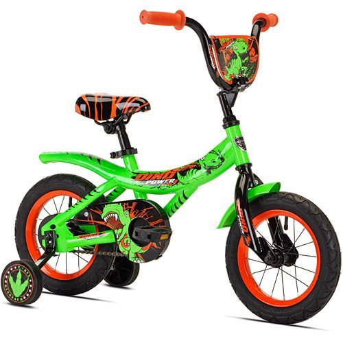 Kent 12 Boys , Dino Power Bike, Green, For Ages 2-5