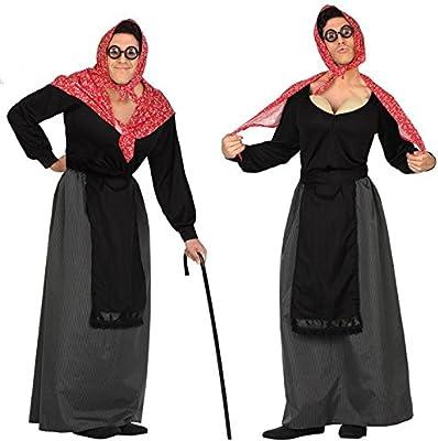 Atosa 26904 - Anciana hombres traje, tamaño 50/52, negro/rojo ...