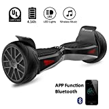 "EVERCROSS EL-ES04 Electric Self Balancing Scooter – All-Terrain 8.5"" Alloy Wheel, 400W Dual-Motor, UL2272 Certified, Off-Road Hoverboard, (Black)"
