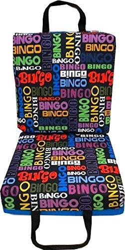 Busy Bingo Blue- Bingo Double Seat Cushion